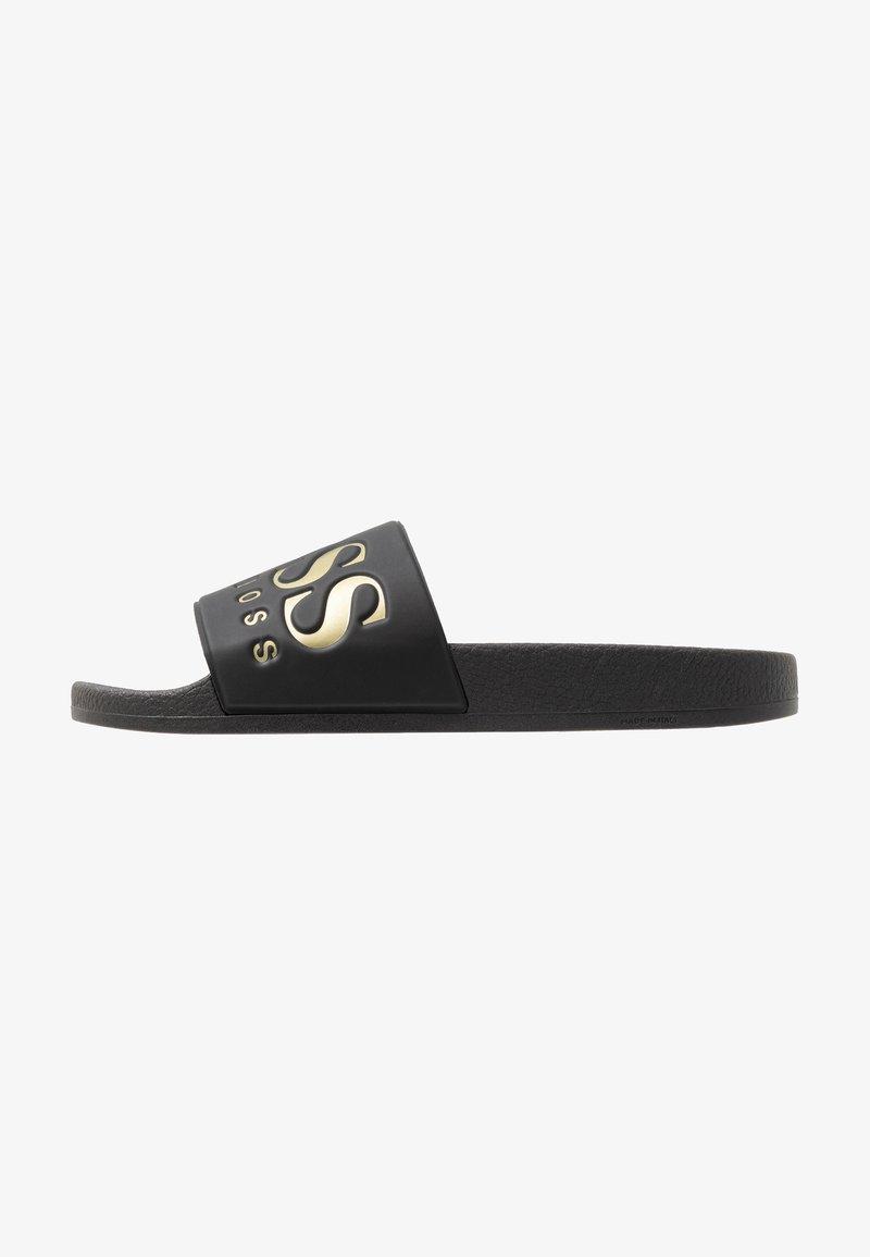BOSS - SOLAR SLID LOGO - Pantolette flach - black