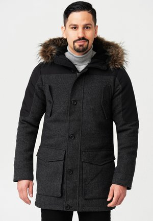 Winter coat - black mix