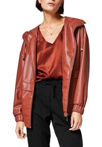 comma - Faux leather jacket - cinnamon - 4