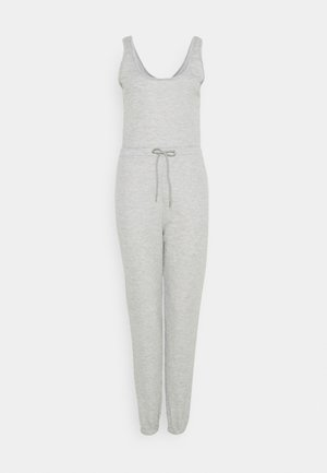 SCOOP NECK LOOPBACK JOGGER CUFF - Overal - grey marl