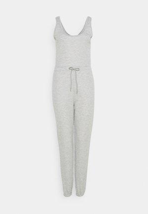 SCOOP NECK LOOPBACK JOGGER CUFF - Jumpsuit - grey marl