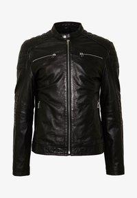 Goosecraft - BIRMIGHAM BIKER - Leather jacket - black - 3