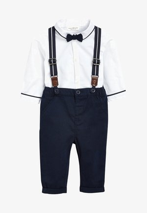 Trousers - dark blue/white
