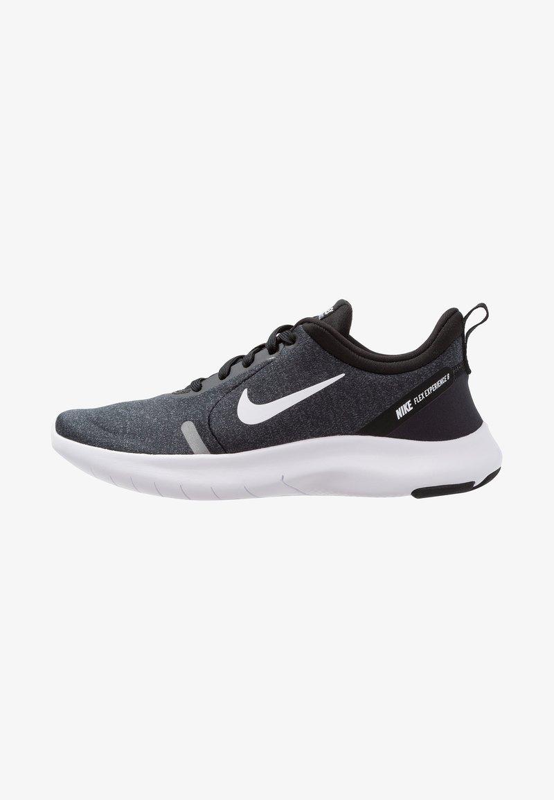 Nike Performance - FLEX EXPERIENCE RN 8 - Paljasjalkajuoksukengät - black/white/cool grey/reflect silver