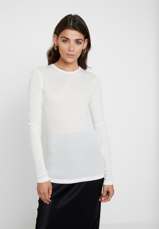 MONA - Top sdlouhým rukávem - bright white