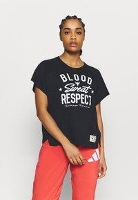 Under Armour - ROCK  - T-shirt imprimé - black - 0