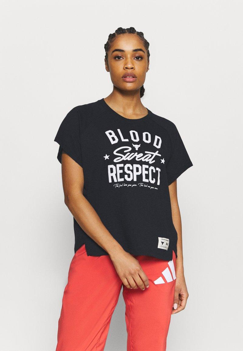Under Armour - ROCK  - T-shirt imprimé - black