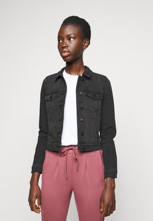 VMFAITH SLIM JACKET MIX - Denim jacket - black