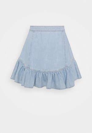 GONNA CORTA - Mini skirt - denim chiaro
