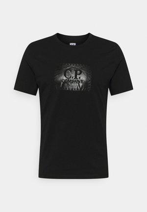 LABEL LOGO - T-shirt imprimé - black