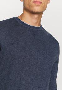 Tommy Hilfiger Tailored - CONTRAST DETAIL C NECK - Jumper - blue - 5