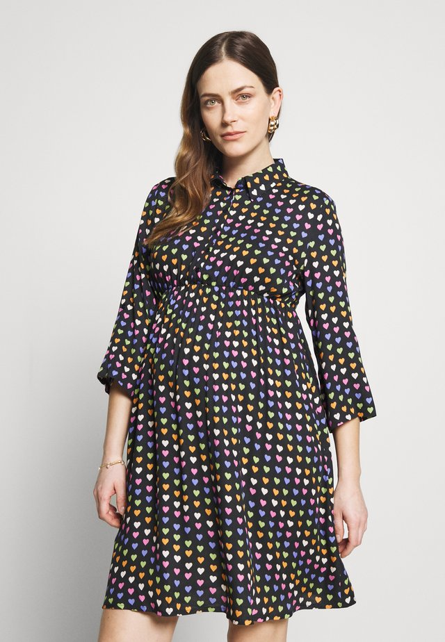 JUST ONE HEART - Shirt dress - dark blue
