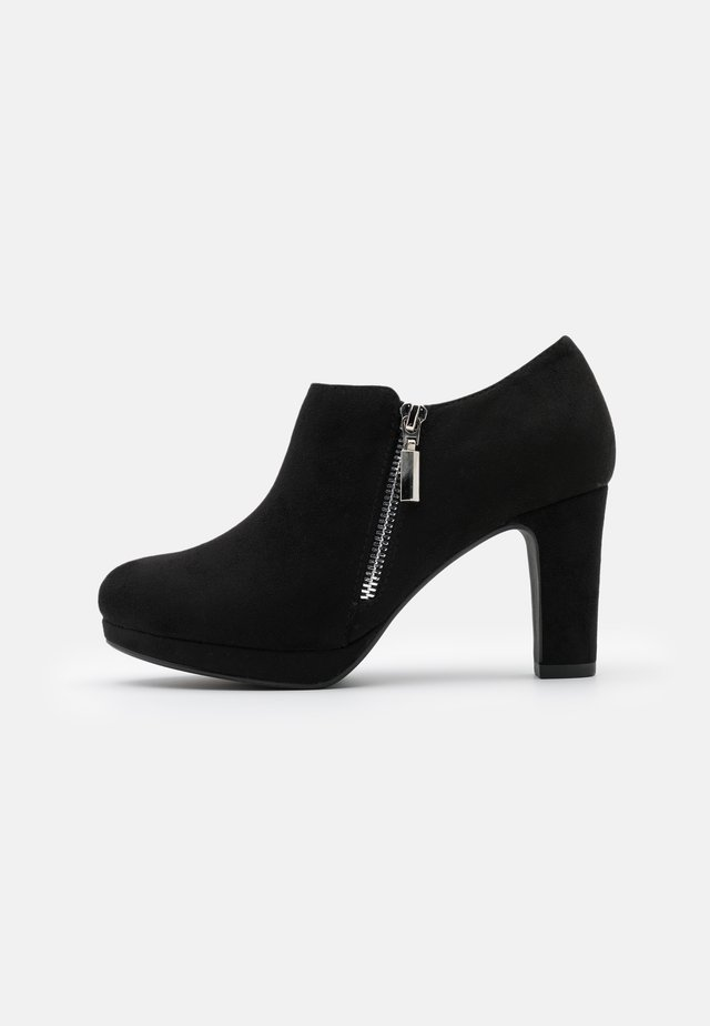WIDE FIT WIZARD - Bottines à talons hauts - black