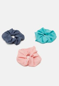 Weekday - SCRUNCHIE 3 PACK - Hair styling accessory - green/grey/pink - 1