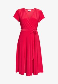 Wallis Petite - WRAP DRESS - Jersey dress - coral - 3