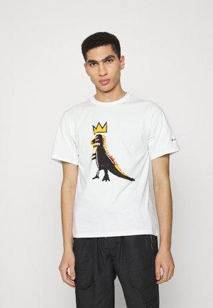 BASQUIAT GRAPHIC TEE UNISEX - T-shirt print - white