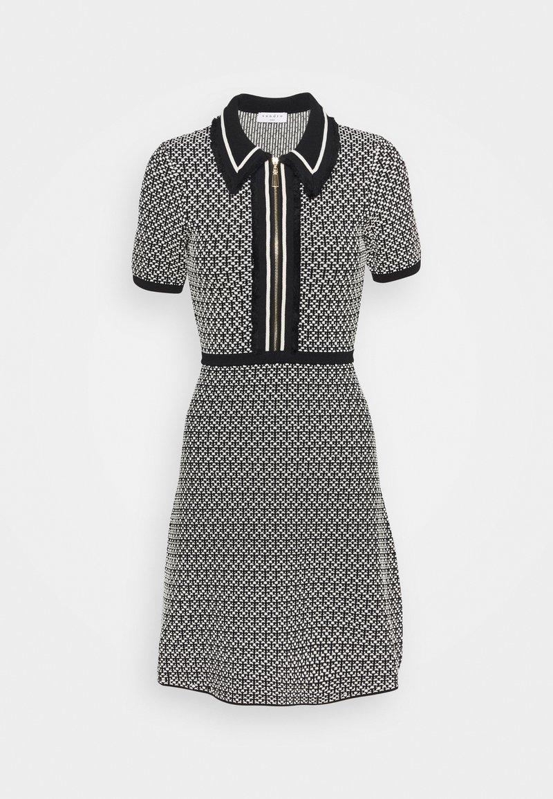 sandro - POLIE - Shirt dress - noir/blanc