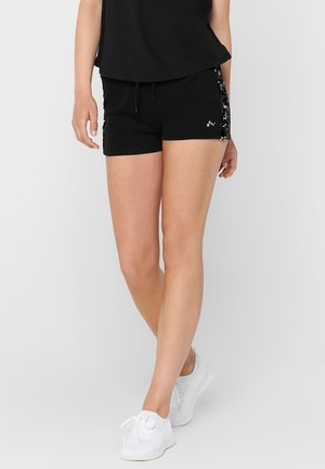 PAILLETTENDETAIL - Shorts - black