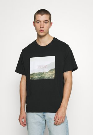RELAXED FIT TEE BABYTAB - Print T-shirt - mineral black