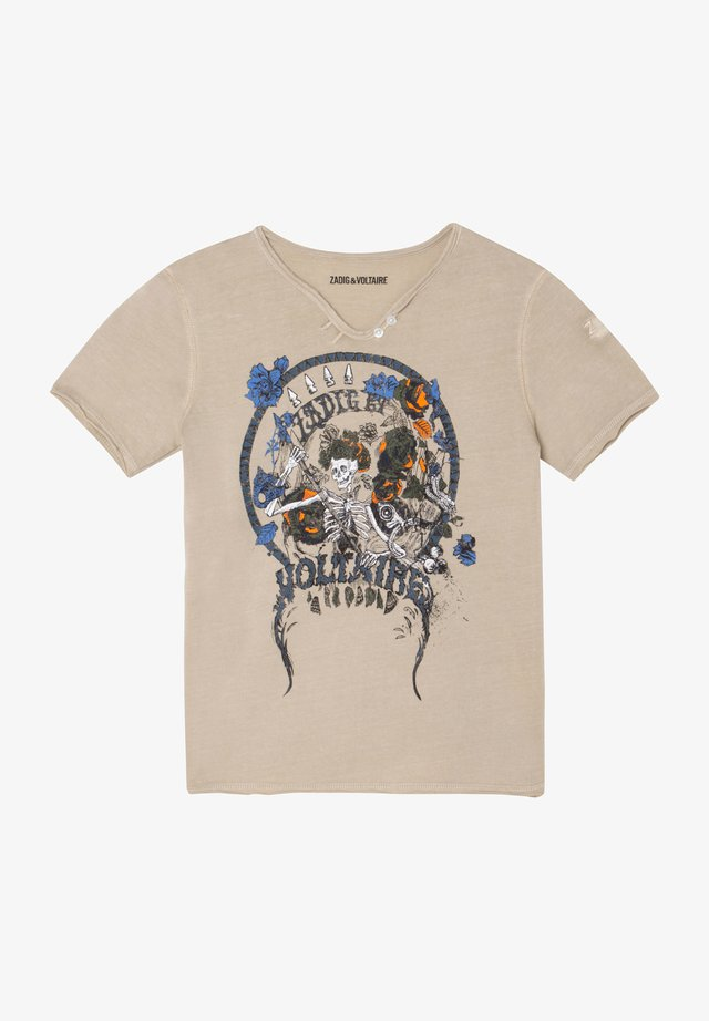 SHORT SLEEVES - T-shirt print - sable