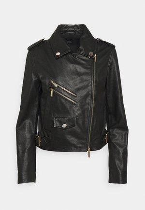BLOUSON - Leather jacket - black