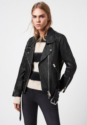 LUNA - Leather jacket - black