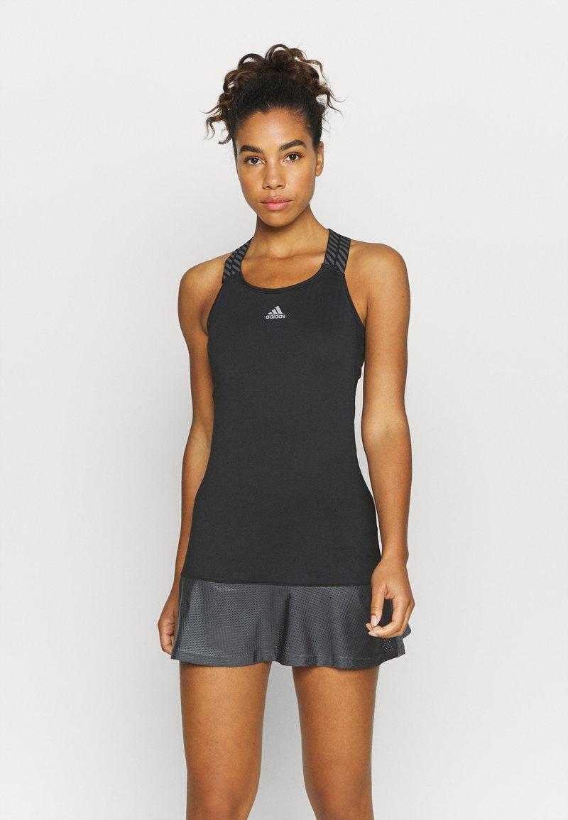 adidas Performance - GAMESET AEROREADY SPORTS TENNIS SLIM DRESS - Sports dress - black/grey