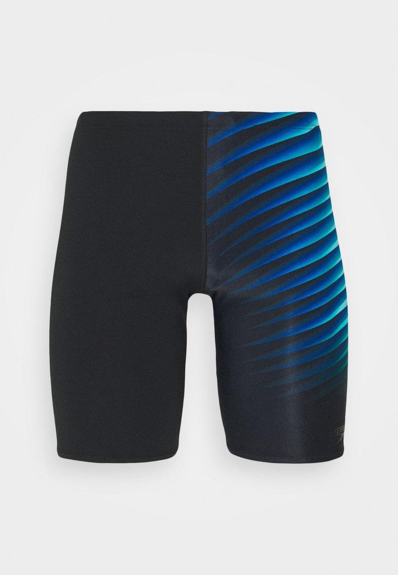 Speedo - PLACEMENT JAMMER AM - Swimming trunks - black/light adriatic