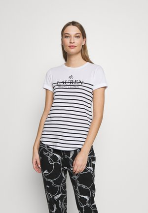 MICRO - Print T-shirt - white
