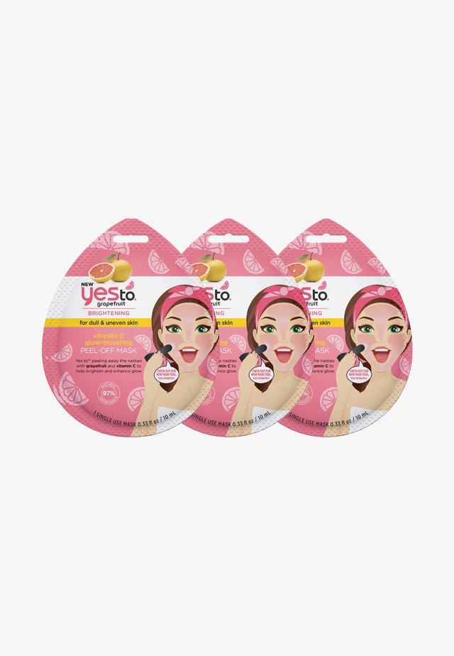 GRAPEFRUIT VITAMIN C GLOW PEEL OFF MASK 3 PACK - Skincare set - -