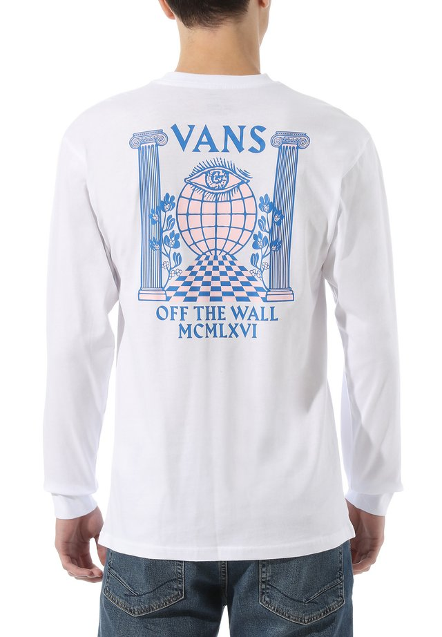 MN PILLARS LS - T-shirt print - white