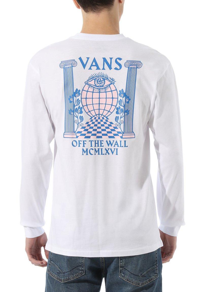 Vans - MN PILLARS LS - Print T-shirt - white