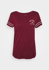 Hollister Co. - PRINT CORE - Print T-shirt - burgandy - 4