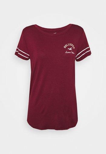 PRINT CORE - T-shirts med print - burgandy