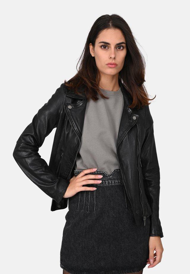 FOLLOW - Leather jacket - black