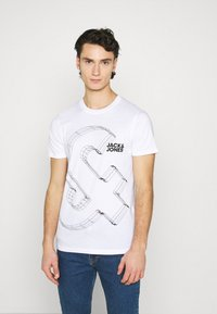 Jack & Jones - JJBOXER TEE CREW NECK - T-shirt imprimé - white - 0