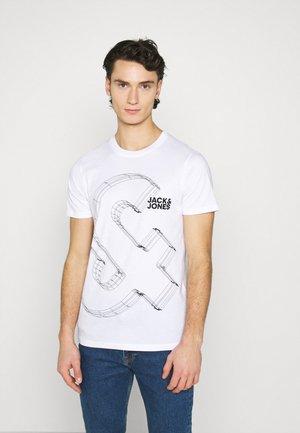 JJBOXER TEE CREW NECK - Print T-shirt - white
