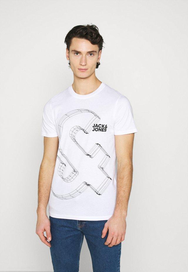 JJBOXER TEE CREW NECK - T-shirt imprimé - white