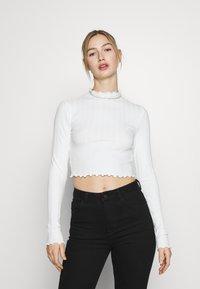 Monki - BLAZE 2 PACK - Maglietta a manica lunga - lilac/white - 1
