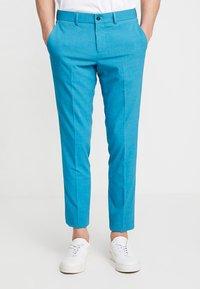 Lindbergh - PLAIN MENS SUIT - Oblek - turquoise melange - 4