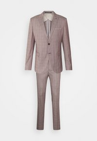 Selected Homme - SLHSLIM KNOXLOGAN CHECK SUIT SET - Traje - red dahlia/white - 9