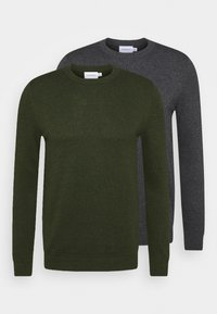 Topman - CREW 2 PACK - Trui - grey/green - 0