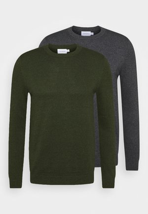 CREW 2 PACK - Strikpullover /Striktrøjer - grey/green