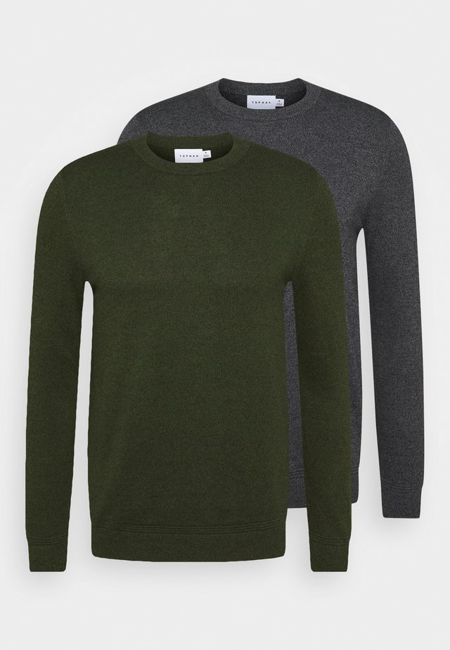 CREW 2 PACK - Maglione - grey/green