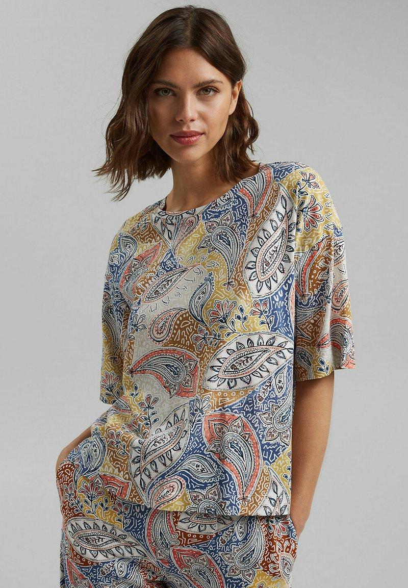 Esprit - MIT PRINT - T-shirt imprimé - off white