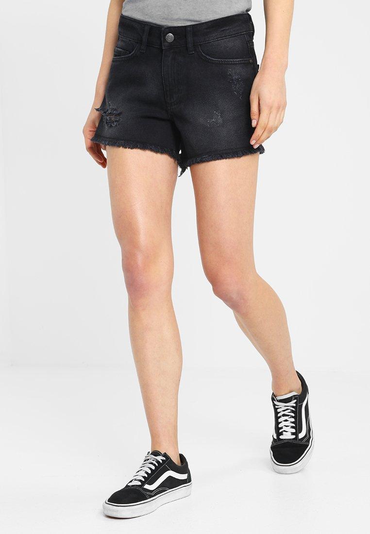 Femme NMFRAN RAW EDGE  - Short en jean