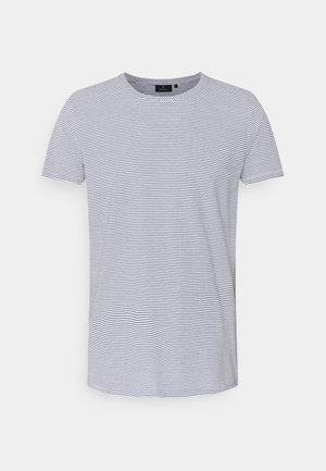 CASUAL STRIPES - Print T-shirt - navy/white