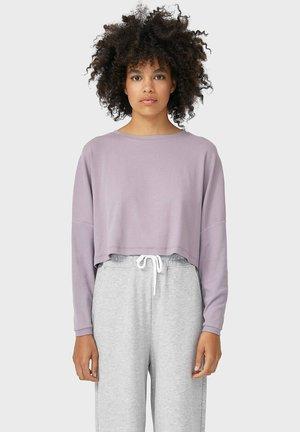 Langærmede T-shirts - mauve