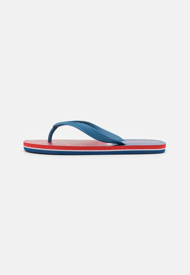 SOUTH BEACH UNISEX - T-bar sandals - navy/red
