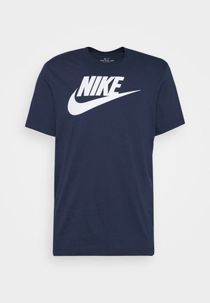 TEE ICON FUTURA - T-shirts med print - midnight navy/white